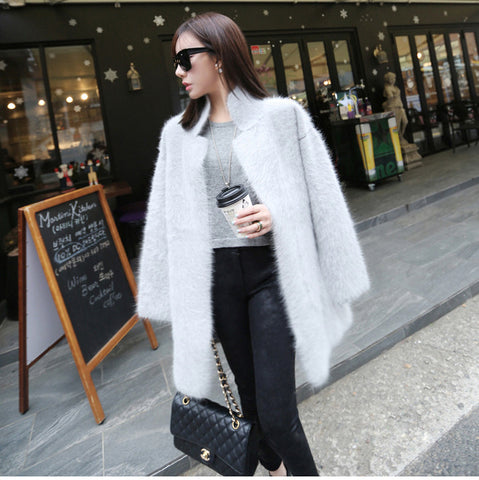 Sashes Genuine Mink 100% Cashmere Cardigan