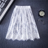 See Through Lace Empire Skirt