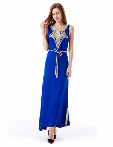 Go East Embroidered Maxi Dress
