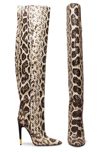 Luxury Snakeskin Stiletto Over The Knee High Boots