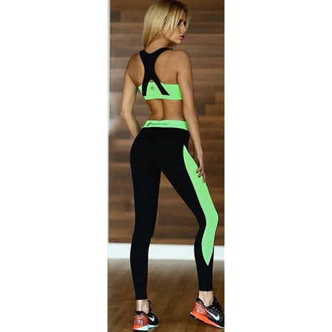 Brassiere 2 Piece Leggings and Sports Bra Set