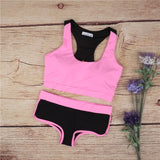 Goals 2 Piece Set Shorts and Sports Bra Workout Set