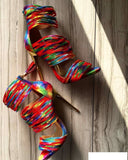 Rainbow Genuine Leather Strappy Gladiator Sandals