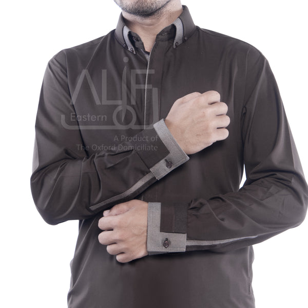 Qameez Shalwar Brown