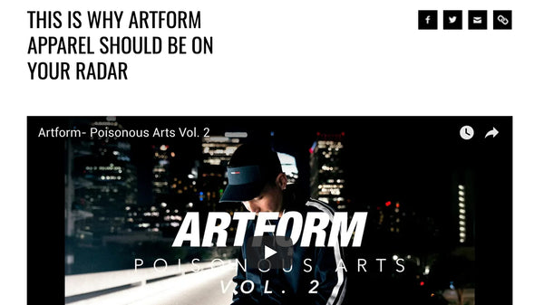 PRESS: Artform Write Up on the Berrics