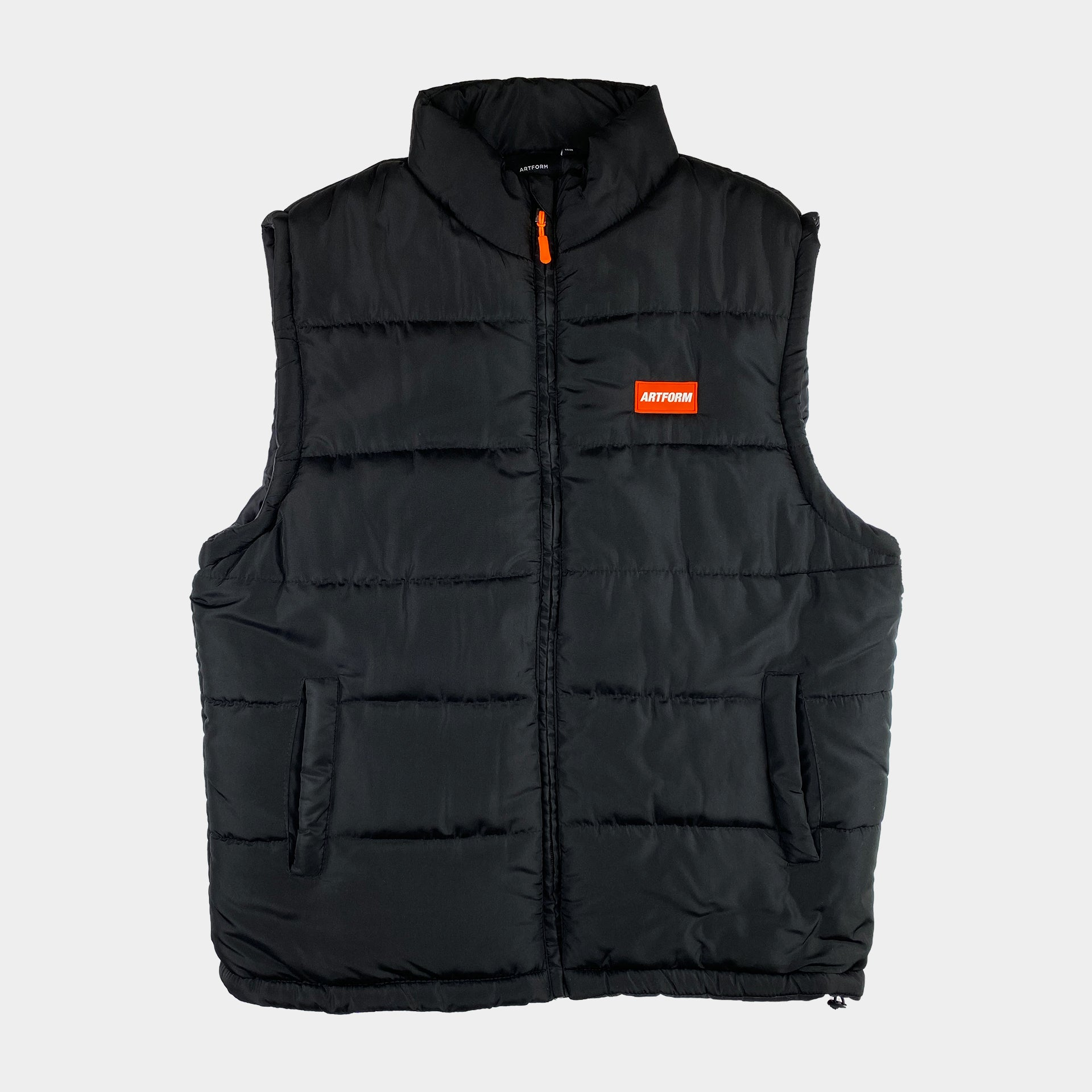 Bubble Vest Black Orange