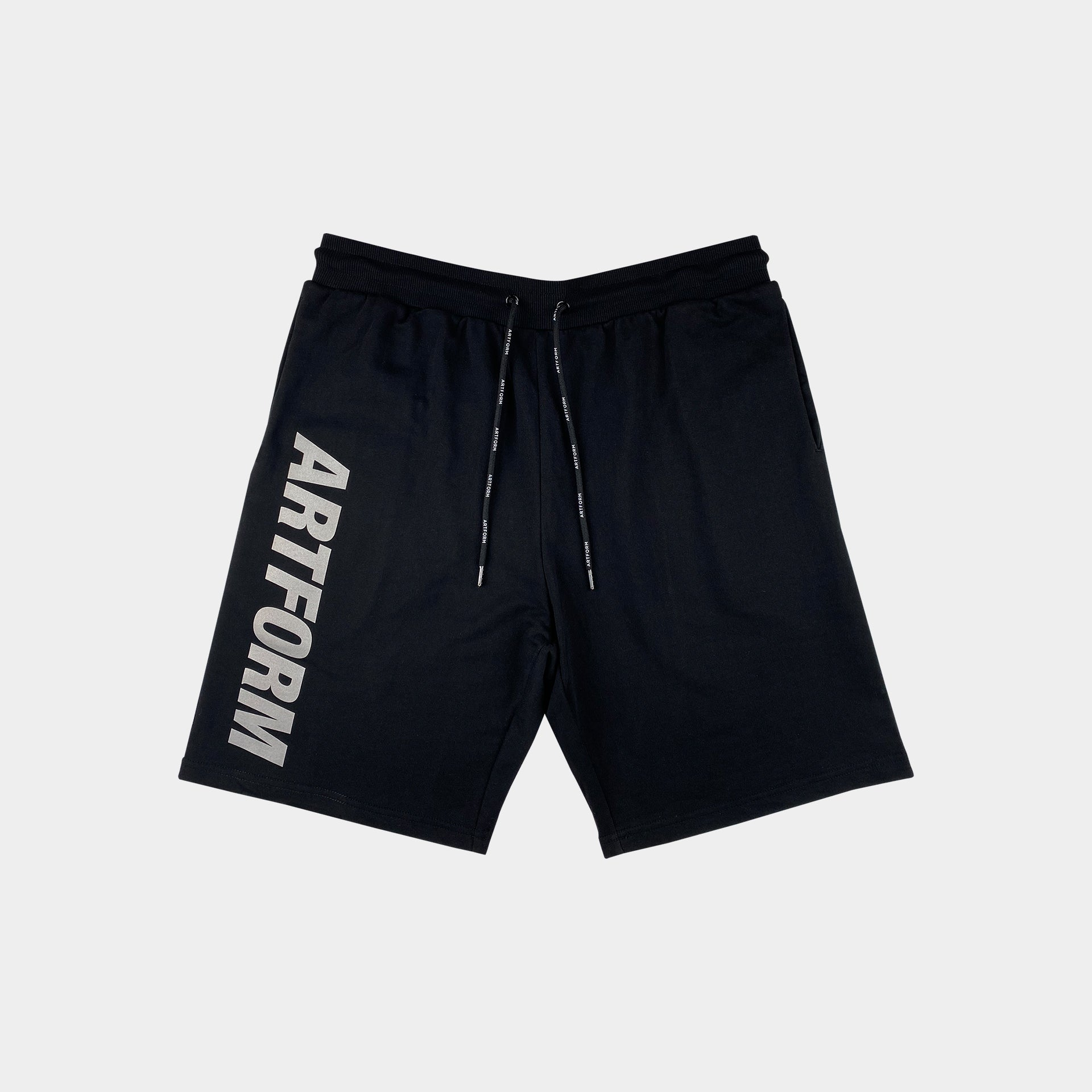 Reflective Terry Shorts Black