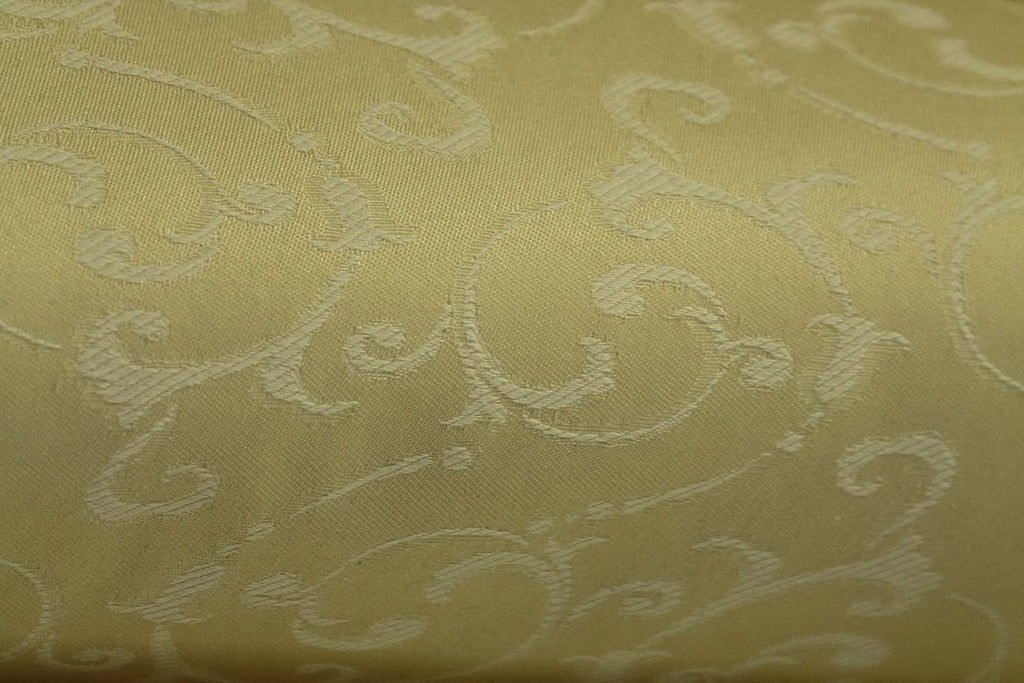 2P: Feather Gold Embroidered Rubber back Curtains - Rainbow Fabrics