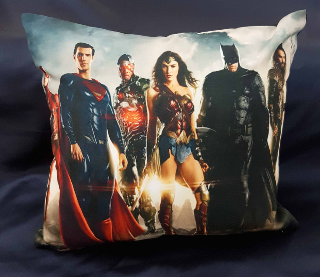 45cm x 45cm Justice League Cushion #1 - Rainbow Fabrics