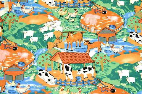 A1: A Day on The Farm Light Patchwork / Craft Fabric