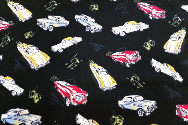 A1: Classic Cars Patchwork / Craft Fabric - Rainbow Fabrics