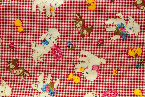 A1: Farm Frolic Red Check_SOLD OUT