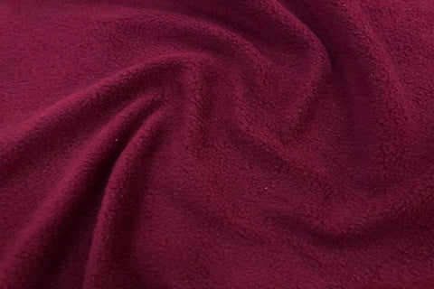 APP: Dark Red Anti Pil Polar Fleece