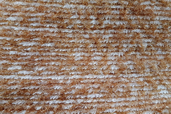 AW: White & Gold Acrylic Wool - Rainbow Fabrics