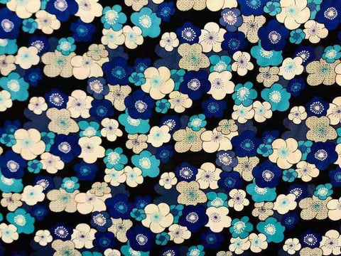 Blue Flower Rayon_SOLD OUT