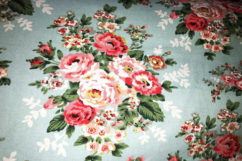Ca2: Athena's Flowers Teal Canvas_SOLD OUT
