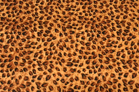 Chocolate And Black Leopard Spot On Light Brown Patchwork / Craft Fabric
