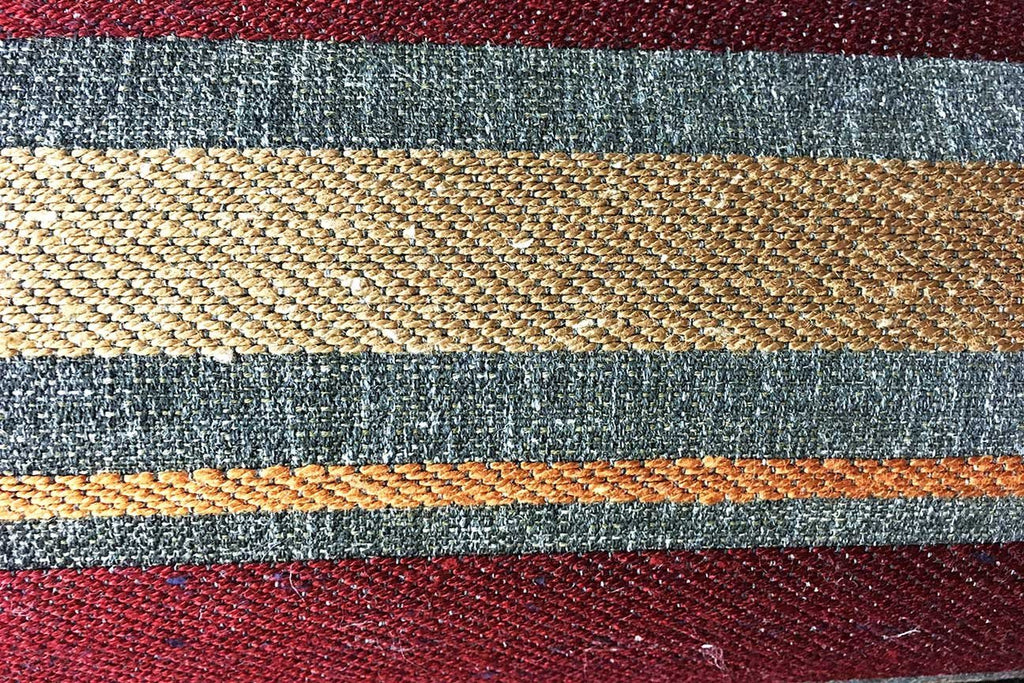 Rainbow Fabrics CJ: Tepanec Stripe Gold – Orange and Red Chenille Jacquard