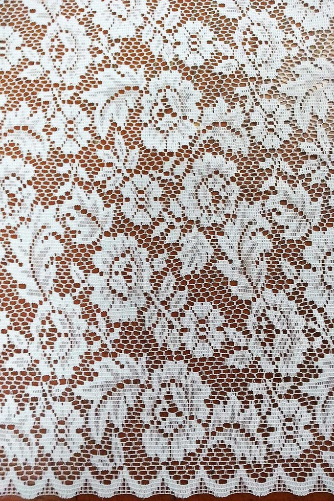 Rainbow Fabrics CL: Clarisse White Curtain Lace