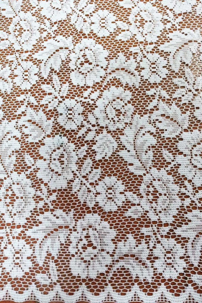 Rainbow Fabrics CL: Jacalyn White Curtain Lace