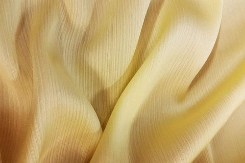 CPC: Butter Yellow Crinkle Plain Chiffon