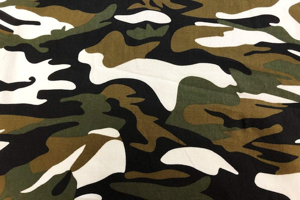 Rainbow Fabrics CS: Army Cotton Sateen - Design # 2 Price per meter
