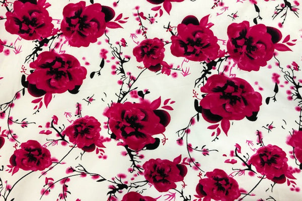 Rainbow Fabrics CS: Maroon Rose Cotton Sateen Price per meter