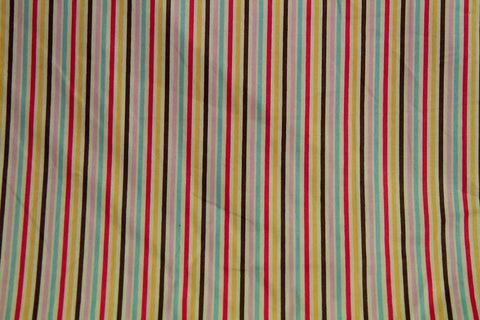 CS: Rainbow Stripe Patchwork / Craft Fabric