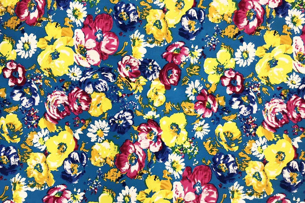 Rainbow Fabrics CS: Stunning Floral Cotton Sateen -03