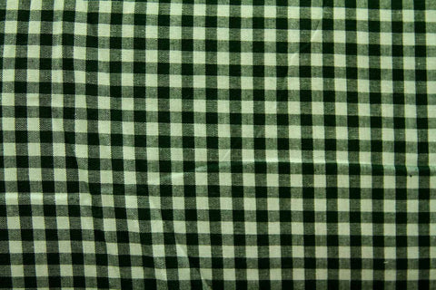 CS: Thin Black and Green Check Patchwork / Craft Fabric