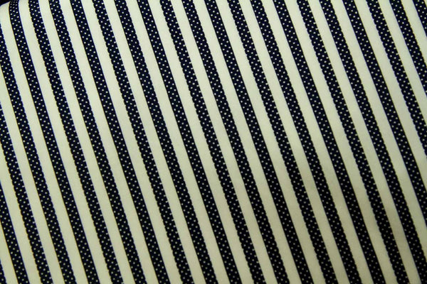Rainbow Fabrics CS: White Dots in Black Stripes White Craft Fabric