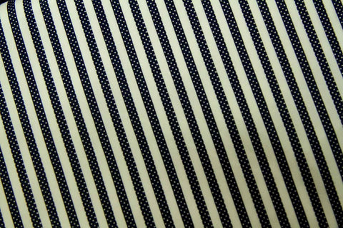 CS: White Dots in Black Stripes Patchwork / Craft Fabric
