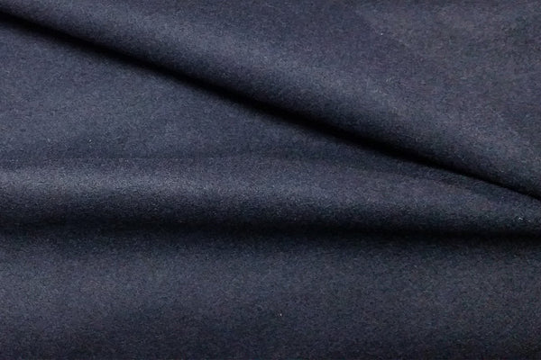 Rainbow Fabrics Dark Navy Blue Plain Wool