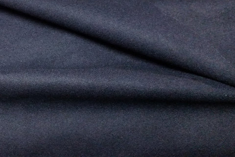 Dark Navy Blue Plain Wool