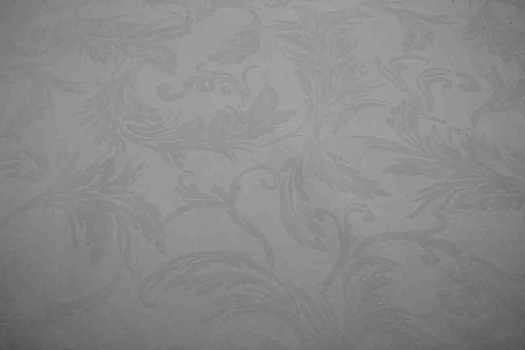 Rainbow Fabrics DS: Leafy White Damask Sheeting