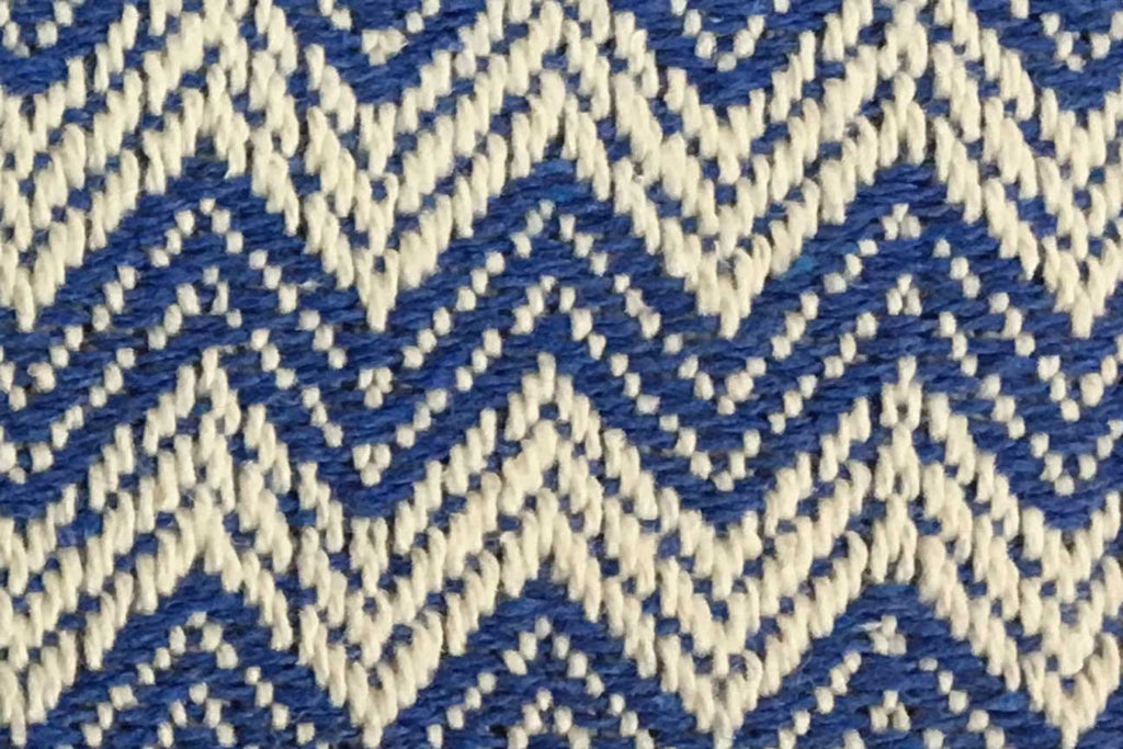 Rainbow Fabrics DU: Light Blue and White Sawtooth Weave