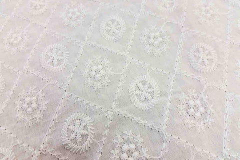 EA: Embroidery Anglaise - White - Design # 8_SOLD OUT