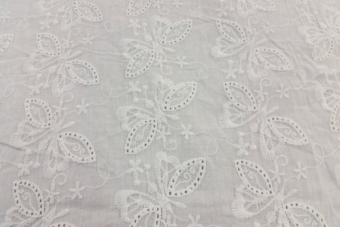 EA: Embroidery Anglaise - White - Design # 9_SOLD OUT