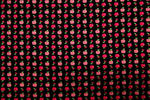FB: Apple Cherry Black Patchwork / Craft Fabric