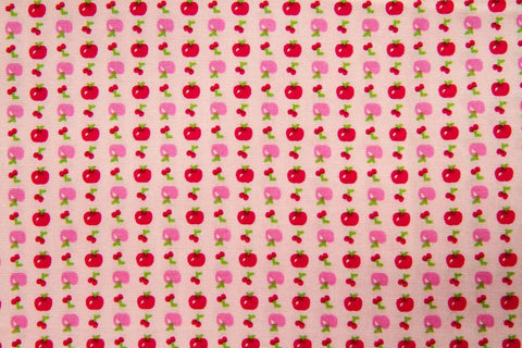 FB: Apple Cherry Pink Patchwork / Craft Fabric