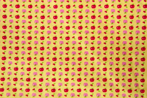 FB: Apple Cherry Yellow Patchwork / Craft Fabric