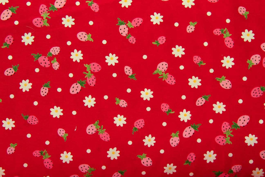 Rainbow Fabrics FB: Raining Berries Red Red Craft Fabric