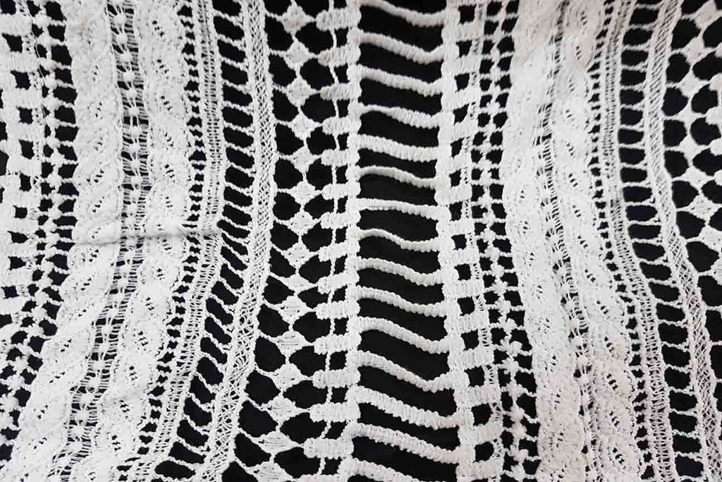 Rainbow Fabrics FL: Geometric Pattern White Lace