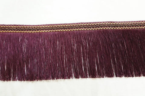 FT: Fringe Trim - Dark Plum