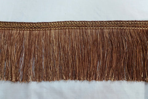 FT: Fringe Trim - Mixture of Light and Dark Brown