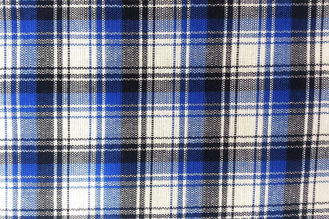 G1: Back – Blue and White Tartan Plaid Gingham_SOLD OUT