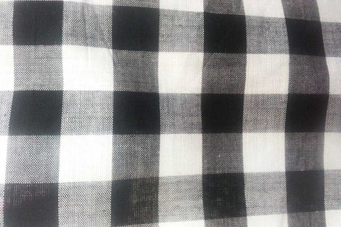 G1: Black and White Thick Stripe Gingham---OUT OF STOCK