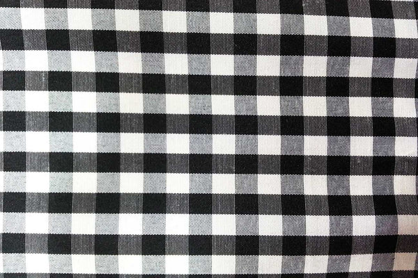 Rainbow Fabrics G1: Black and White Traditional Gingham