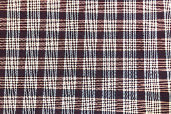 Rainbow Fabrics G1: Brown and Off White Gingham - 8mm and 10mm check