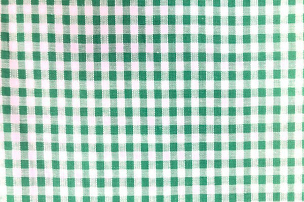Rainbow Fabrics G1: Green And White Gingham - 4mm check